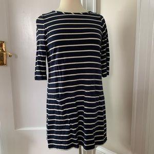 Classic Breton navy striped Boden dress size 6